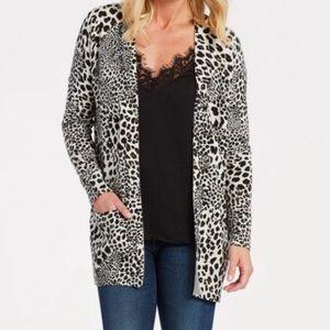 Sanctuary Leopard Print Cardigan Sweater